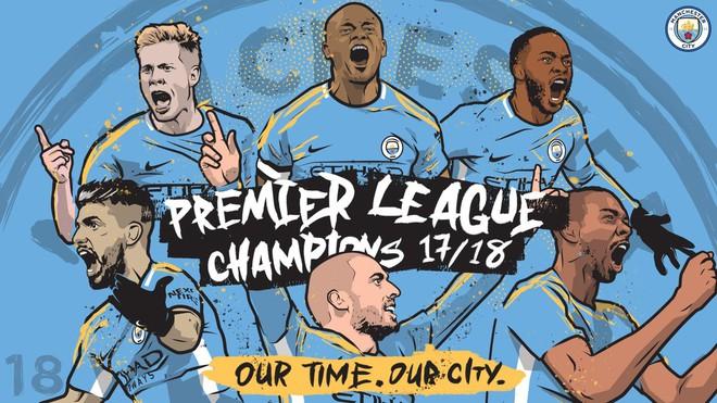 CHÍNH THỨC: Man City vô địch Premier League 2017/18 sớm 5 vòng - Ảnh 2.