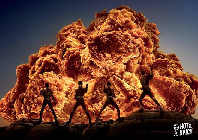 Mẩu quảng cáo bom đạn cháy nổ của hãng gà rán KFC làm người xem thích thú với siêu nhân biến hình và tên lửa thăng thiên - ảnh 1