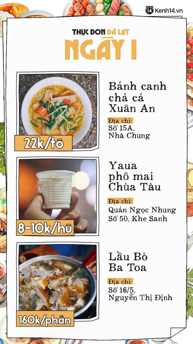 Đã có hẳn cẩm nang 7 ngày ăn ở Đà Lạt đây này, đi chơi chẳng lo phải nghĩ ngợi ăn gì ở đâu nữa - Ảnh 2.