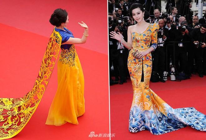 Cannes ngày 2 loạn bởi loạt mỹ nhân vô danh Trung Quốc: Quyết tâm lộ nhũ hoa, mặc long bào bắt chước Phạm Băng Băng - Ảnh 7.