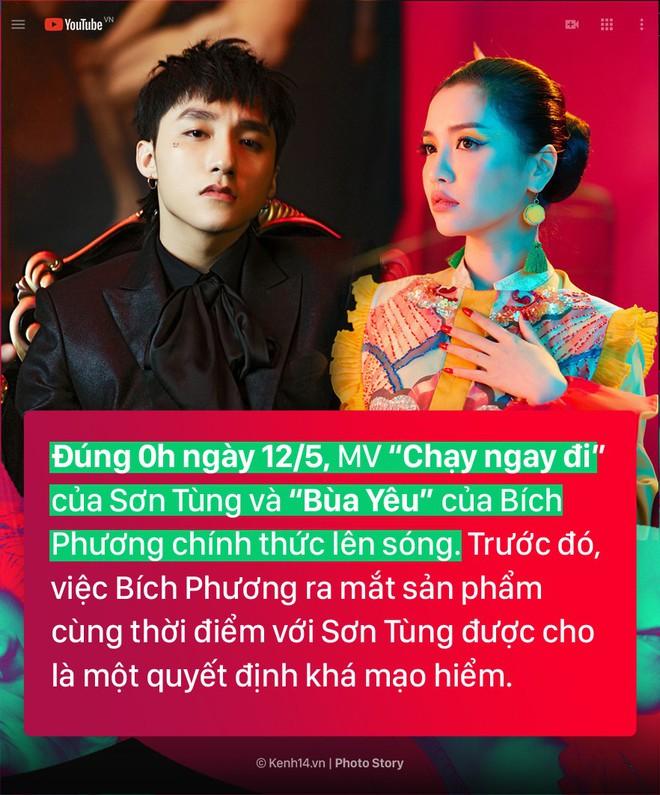 """Toàn cảnh """"cuộc chiến"""" Vpop đầu tháng 5 đầy kịch tính giữa Sơn Tùng và Bích Phương - Ảnh 1."""