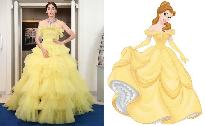 """Diện đầm đúng kiểu công chúa cổ tích, """"Phạm Băng Băng Thái Lan"""" Chompoo Araya chiếm hết sóng thảm đỏ Cannes - Ảnh 9."""