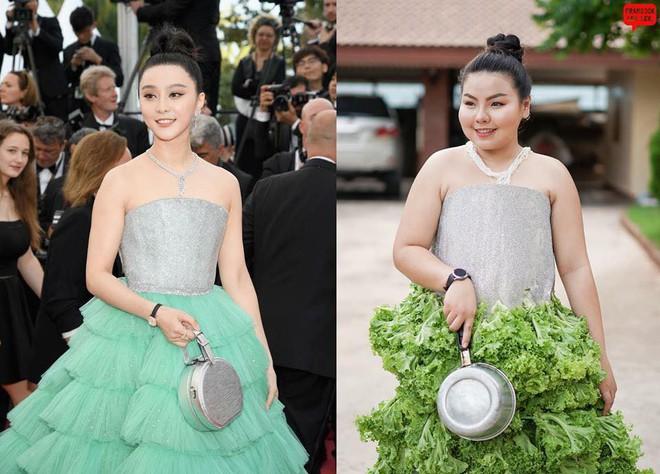 Cosplay hàng hiệu thời trang bằng cách tự làm váy áo bằng đồ ăn, cô bạn Thái Lan tự tin chặt chém mọi nhân vật đình đám - Ảnh 1.