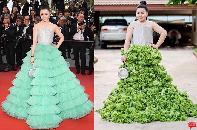 Cosplay hàng hiệu thời trang bằng cách tự làm váy áo bằng đồ ăn, cô bạn Thái Lan tự tin chặt chém mọi nhân vật đình đám - Ảnh 6.