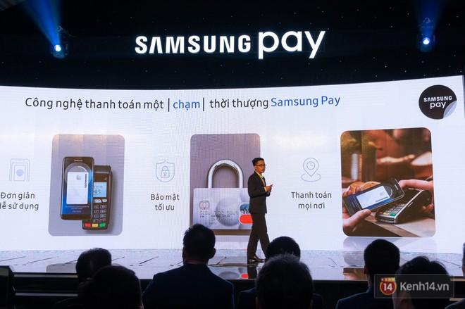 Nền tảng ứng dụng Samsung Pay đã cho phép thanh toán bằng đồng hồ thông minh và rút tiền mặt từ cây ATM chỉ với thao tác chạm smartphone - Ảnh 1.