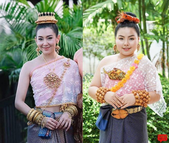 Cosplay hàng hiệu thời trang bằng cách tự làm váy áo bằng đồ ăn, cô bạn Thái Lan tự tin chặt chém mọi nhân vật đình đám - Ảnh 10.