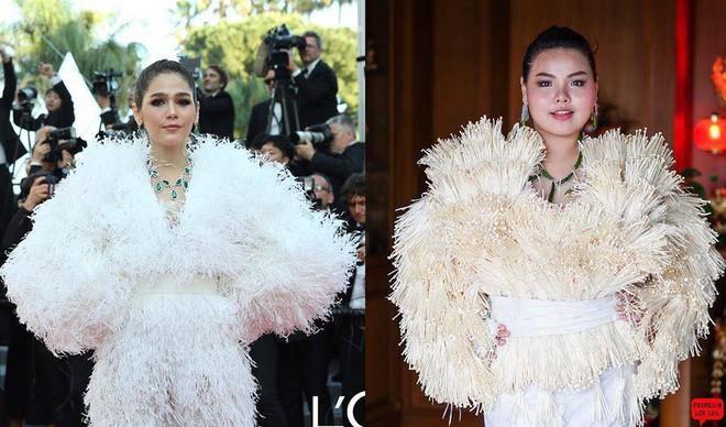 Cosplay hàng hiệu thời trang bằng cách tự làm váy áo bằng đồ ăn, cô bạn Thái Lan tự tin chặt chém mọi nhân vật đình đám - Ảnh 11.