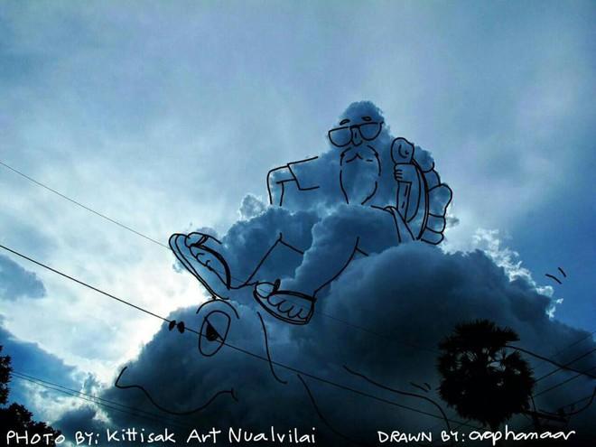 Danh tính tác giả của những bức vẽ đám mây cực dễ thương đang gây sốt MXH - ảnh 15
