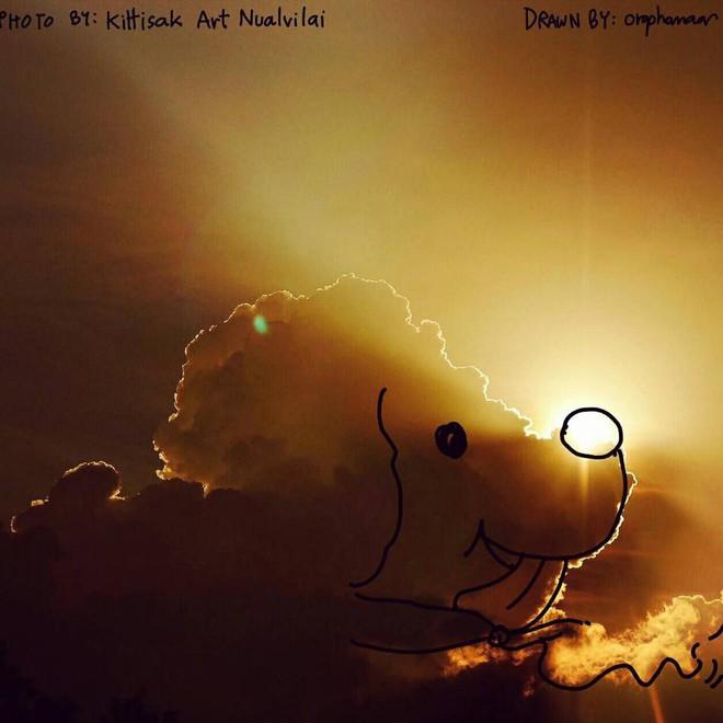 Danh tính tác giả của những bức vẽ đám mây cực dễ thương đang gây sốt MXH - ảnh 14