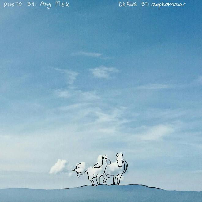 Danh tính tác giả của những bức vẽ đám mây cực dễ thương đang gây sốt MXH - ảnh 7