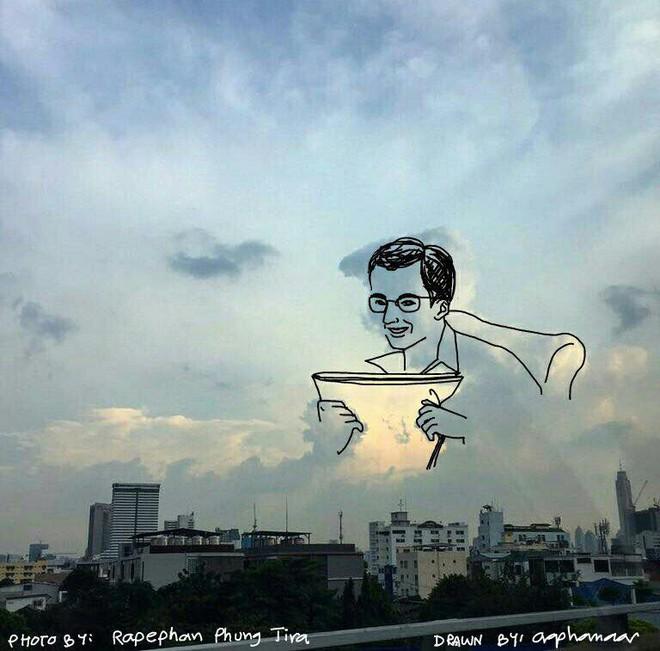 Danh tính tác giả của những bức vẽ đám mây cực dễ thương đang gây sốt MXH - ảnh 10