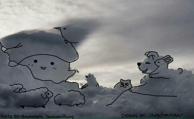 Danh tính tác giả của những bức vẽ đám mây cực dễ thương đang gây sốt MXH - ảnh 13