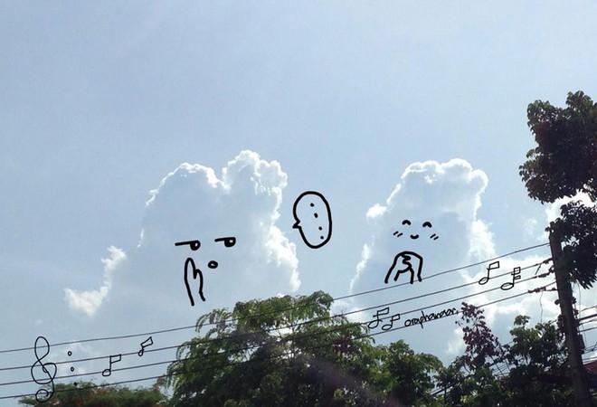Danh tính tác giả của những bức vẽ đám mây cực dễ thương đang gây sốt MXH - ảnh 4