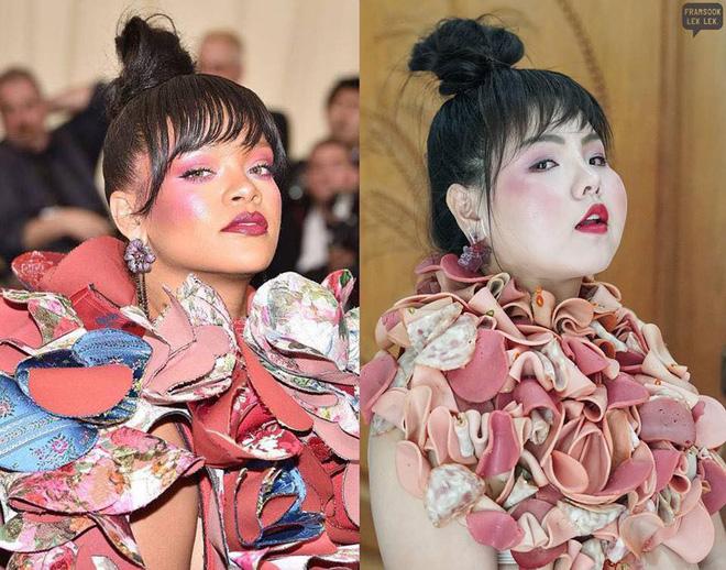 Cosplay hàng hiệu thời trang bằng cách tự làm váy áo bằng đồ ăn, cô bạn Thái Lan tự tin chặt chém mọi nhân vật đình đám - Ảnh 5.