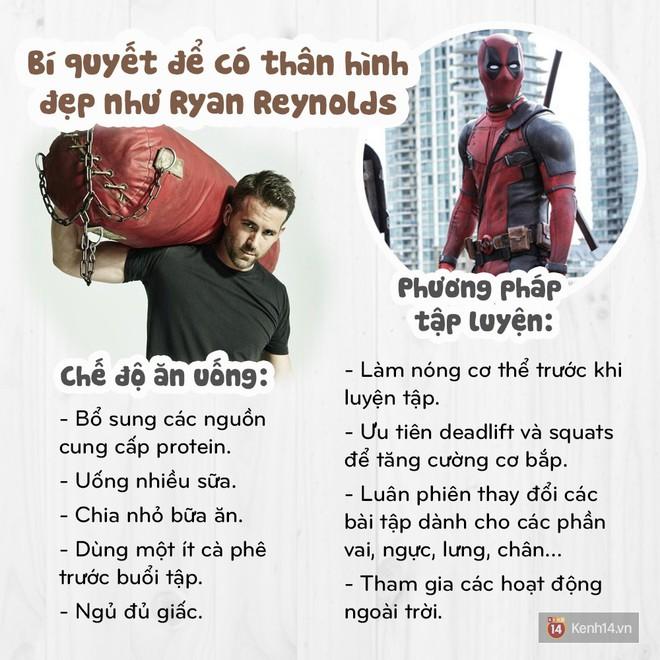 Không ngờ siêu anh hùng gây hài Deadpool cũng có thân hình như siêu mẫu và đây là bí quyết - Ảnh 10.