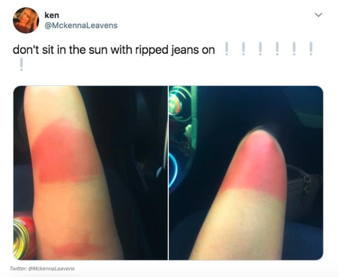 Khi bạn mê jeans rách đến bất chấp cả trời nắng to, rất có thể bạn sẽ khiến mình trông như thế này - ảnh 3