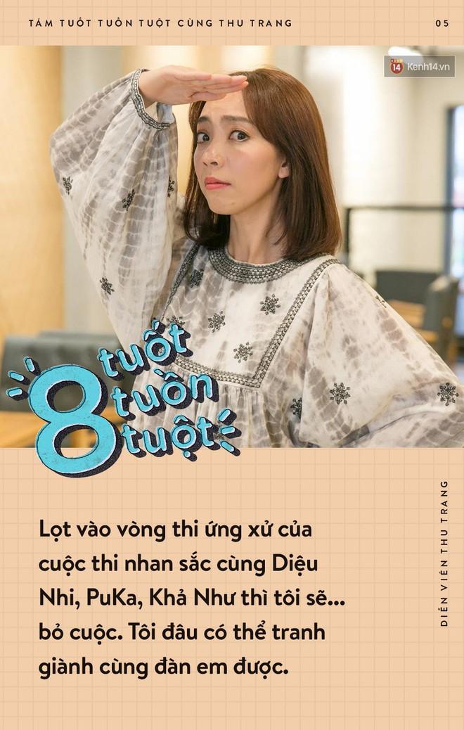 Tám tuốt tuồn tuột: Sẵn sàng nhường danh hiệu Hoa hậu nhưng Thu Trang vẫn không quên dằn mặt Diệu Nhi, PuKa và Khả Như - ảnh 5