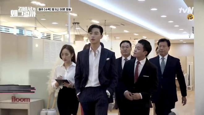 Hậu trường Thư Ký Kim: Park Seo Joon buồn thiu vì Park Min Young quá thân thiết với một người - ảnh 11