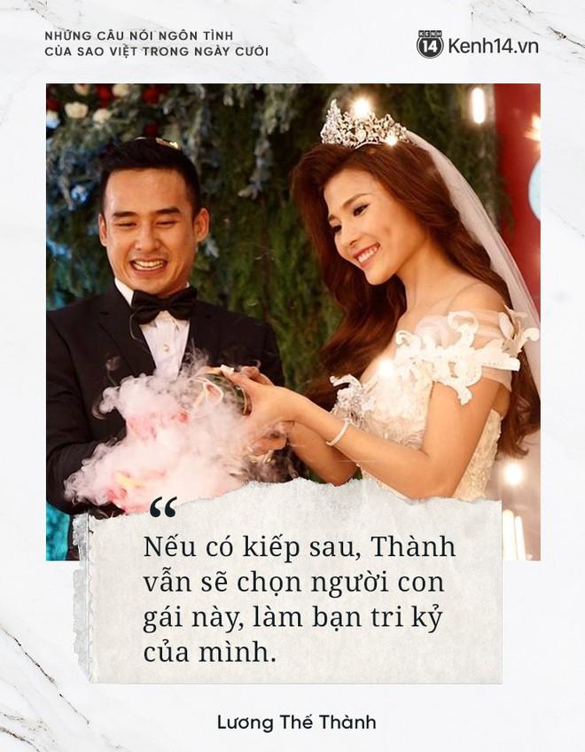 """""""Lụi tim"""" với những câu nói đậm chất ngôn tình của nửa kia dành tặng cho sao Việt trong ngày cưới - ảnh 10"""