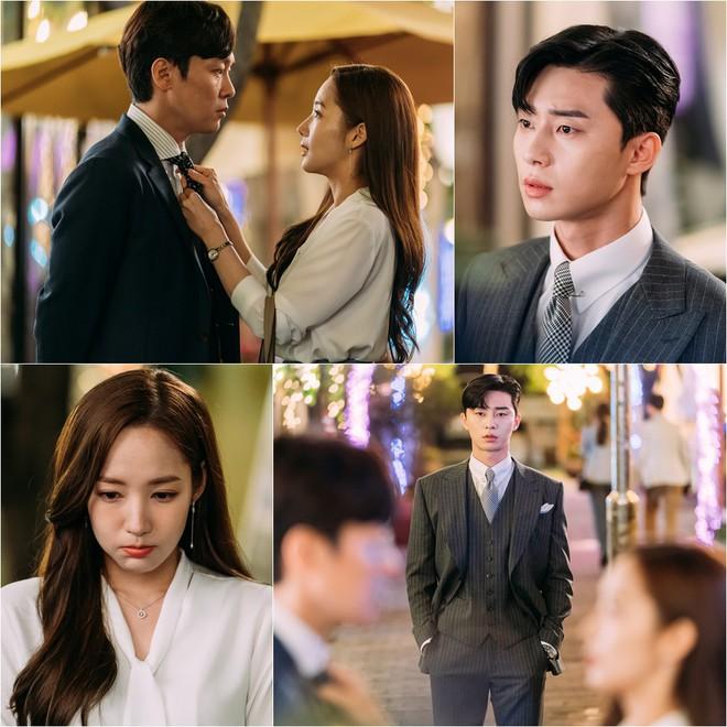 Hậu trường Thư Ký Kim: Park Seo Joon buồn thiu vì Park Min Young quá thân thiết với một người - ảnh 15