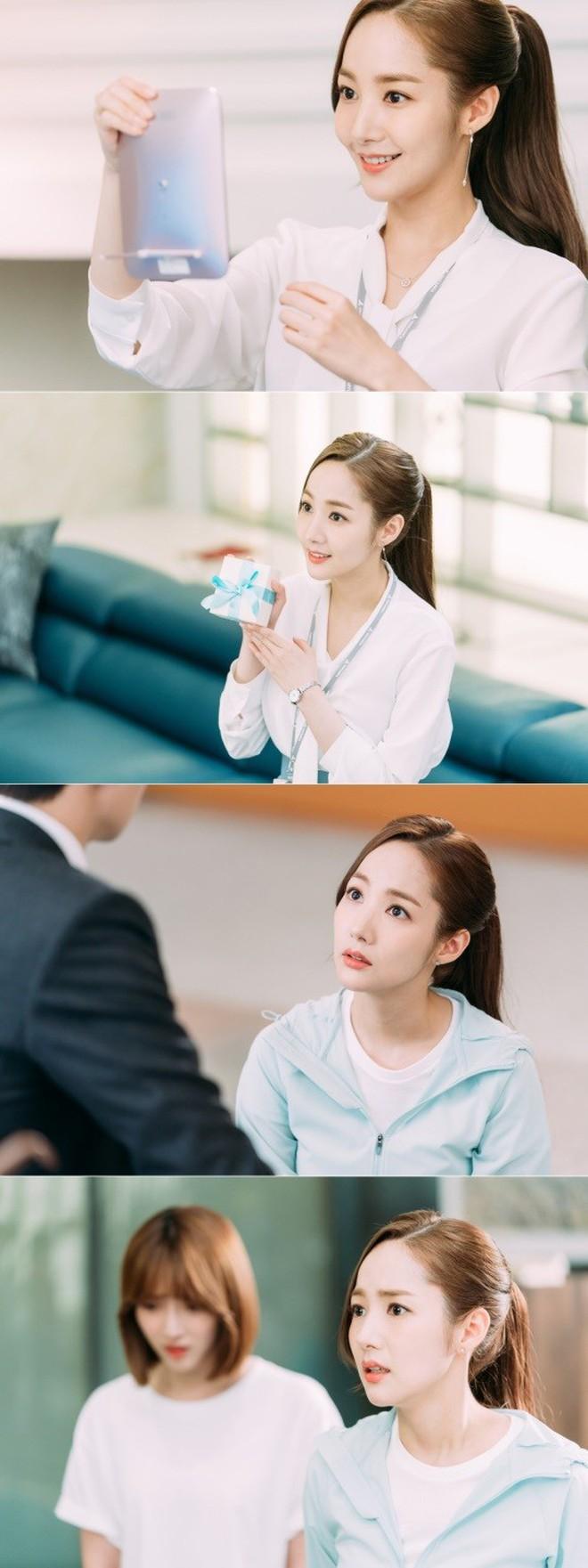 Hậu trường Thư Ký Kim: Park Seo Joon buồn thiu vì Park Min Young quá thân thiết với một người - ảnh 16