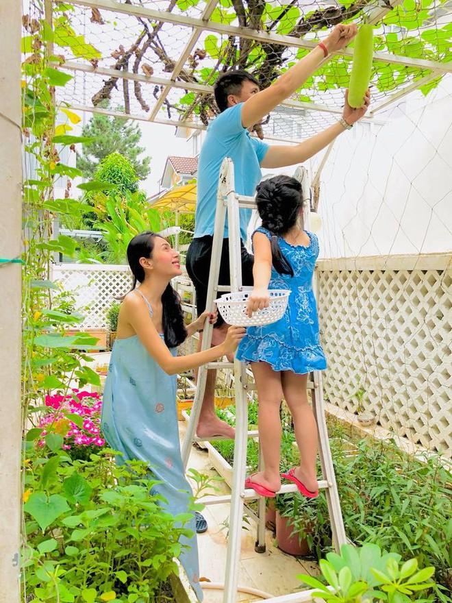 Tự hái rau trong vườn để nấu ăn, Thủy Tiên giản dị thế này ngoài đời thực - ảnh 1