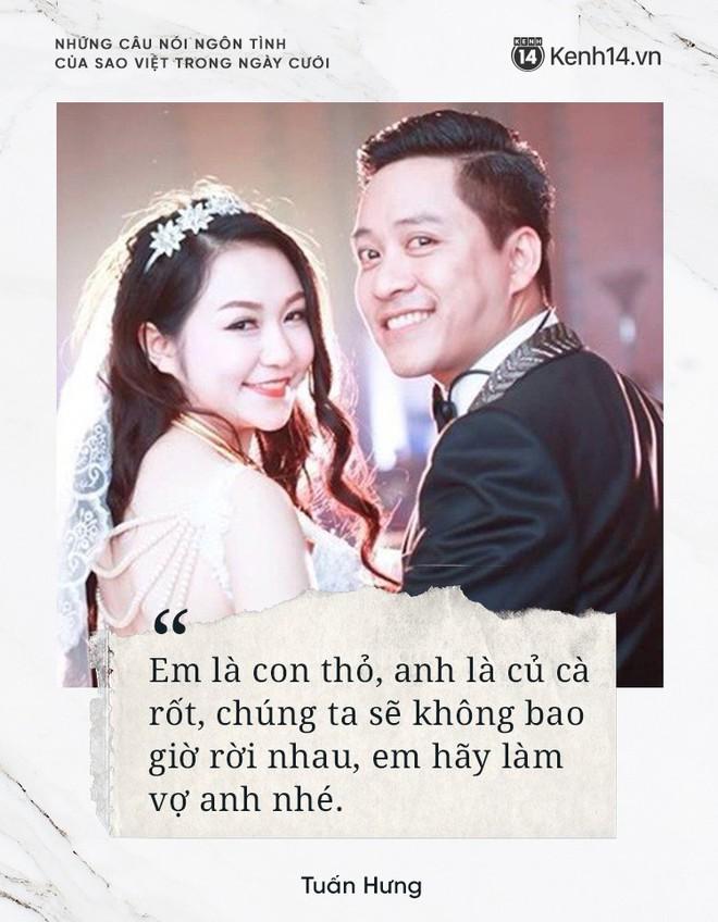 """""""Lụi tim"""" với những câu nói đậm chất ngôn tình của nửa kia dành tặng cho sao Việt trong ngày cưới - ảnh 11"""