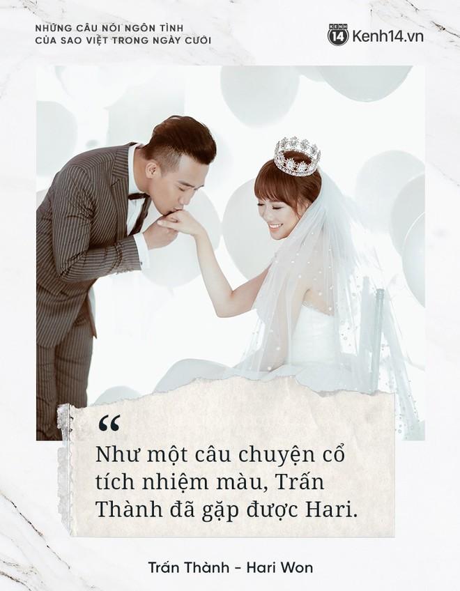 """""""Lụi tim"""" với những câu nói đậm chất ngôn tình của nửa kia dành tặng cho sao Việt trong ngày cưới - ảnh 5"""
