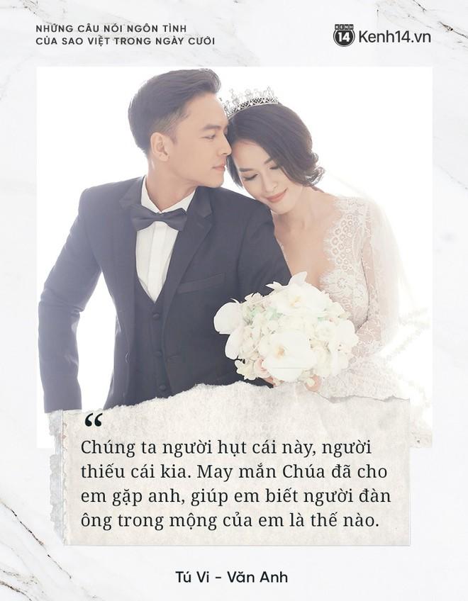"""""""Lụi tim"""" với những câu nói đậm chất ngôn tình của nửa kia dành tặng cho sao Việt trong ngày cưới - ảnh 8"""