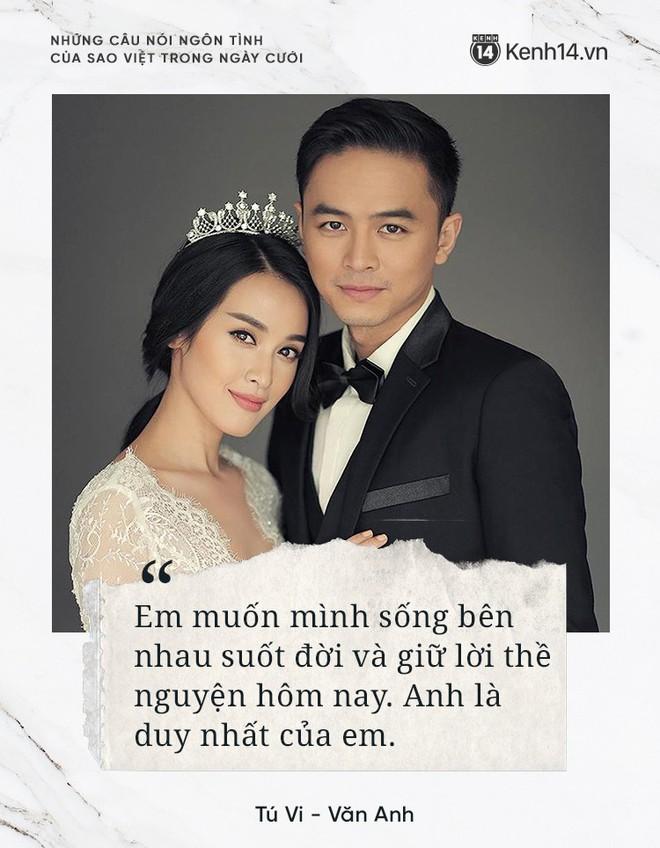 """""""Lụi tim"""" với những câu nói đậm chất ngôn tình của nửa kia dành tặng cho sao Việt trong ngày cưới - ảnh 7"""