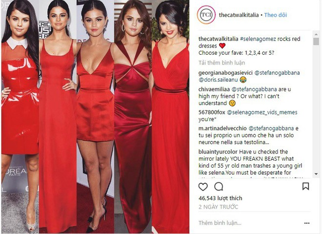 Dù có mặc váy của Dolce&Gabbana thì Selena Gomez vẫn bị Stefano Gabbana - NTK của hãng chê bai như thường - ảnh 1