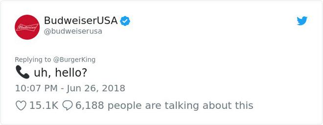 Burger King hò hét cãi nhau loạn xì với Budweiser trên mạng xã hội, cư dân mạng ngớ người khi biết sự thật - Ảnh 2.