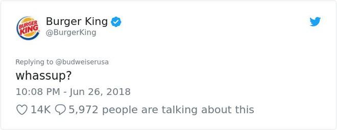 Burger King hò hét cãi nhau loạn xì với Budweiser trên mạng xã hội, cư dân mạng ngớ người khi biết sự thật - Ảnh 3.