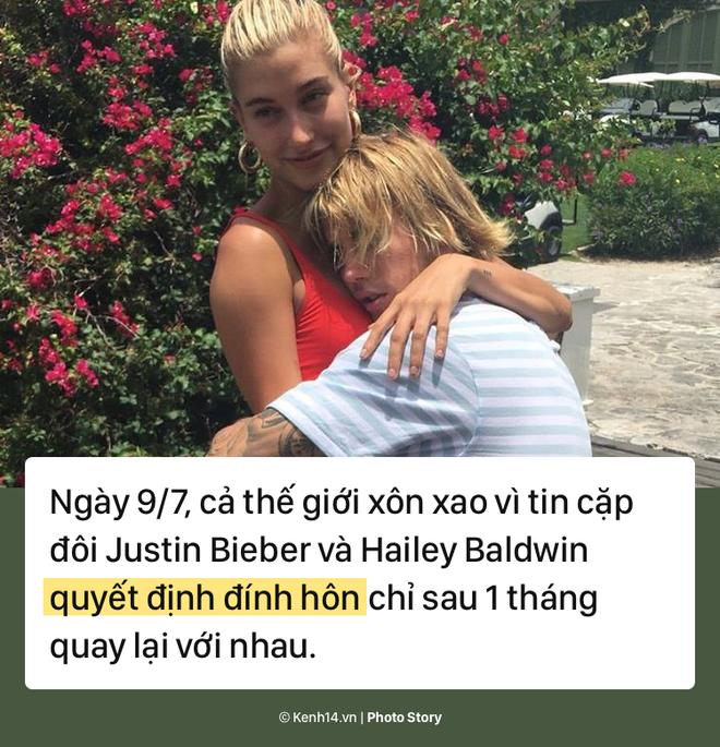 Nhìn lại chặng đường yêu đương thăng trầm của cặp đôi Justin Bieber và Hailey Baldwin - Ảnh 1.