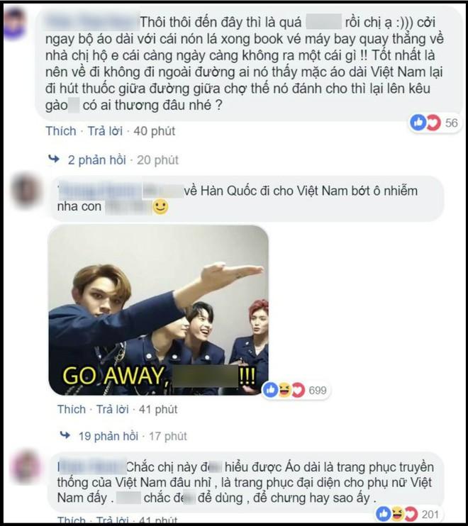Bạn gái cũ tai tiếng của T.O.P khiến fan Việt phẫn nộ vì vừa mặc áo dài vừa tạo dáng phì phèo thuốc lá - ảnh 2