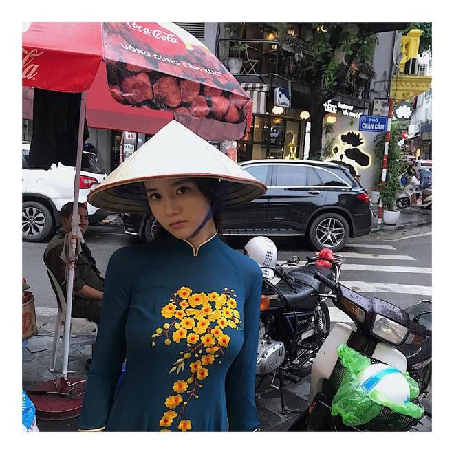 Bạn gái cũ tai tiếng của T.O.P khiến fan Việt phẫn nộ vì vừa mặc áo dài vừa tạo dáng phì phèo thuốc lá - ảnh 5