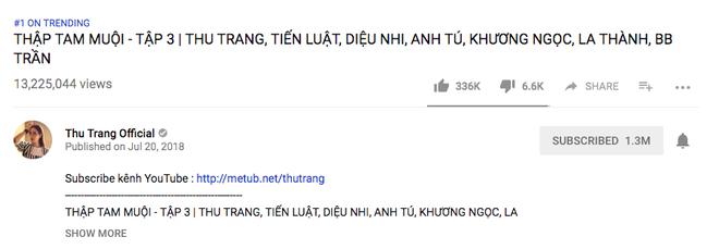 Thập Tam Muội lại phá kỉ lục của chính mình với 13 triệu view, Thu Trang - Tiến Luật bật mí về cuộc đại chiến ở phần 2 - ảnh 2