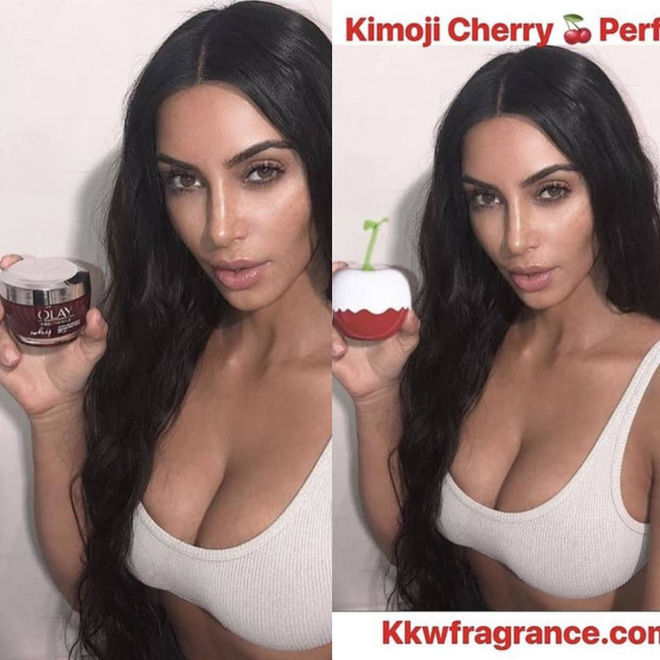 Nhanh nhẹn như Kim Kardashian: lấy ảnh cũ, photoshop tí chút thế là có ảnh mới để quảng cáo nước hoa - ảnh 3