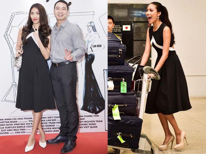 Hà Tăng cũng từng diện bộ váy đen y chang thiết kế mà Lan Khuê mặc đi mặc lại  - Ảnh 3.