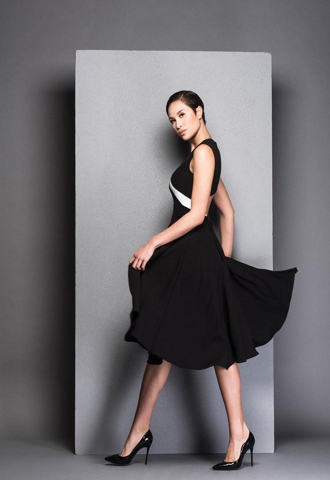 Hà Tăng cũng từng diện bộ váy đen y chang thiết kế mà Lan Khuê mặc đi mặc lại  - Ảnh 8.