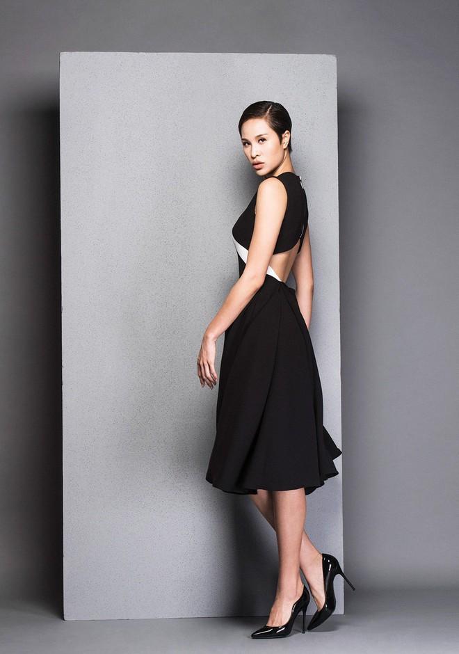 Hà Tăng cũng từng diện bộ váy đen y chang thiết kế mà Lan Khuê mặc đi mặc lại  - Ảnh 9.