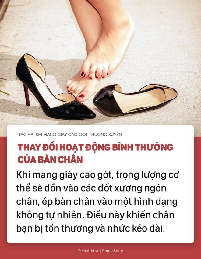 Nếu bạn thường xuyên mang giày cao gót, hãy chú ý những tác hại này - Ảnh 1.