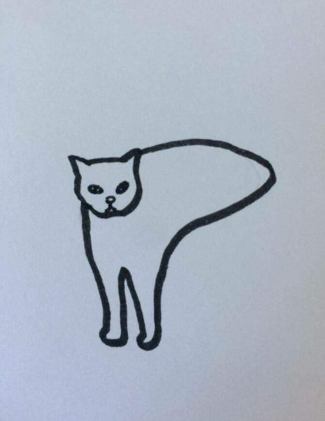 Góc sáng tạo: Được cô giáo giao bài tập vẽ con mèo, bé gái bê luôn boss nhà ra photo cho nhanh - Ảnh 6.