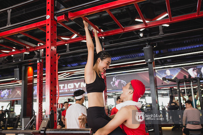 The Face Vietnam: Dàn trai xinh gái đẹp khoe dáng với phần ghi hình tập gym - Ảnh 18.