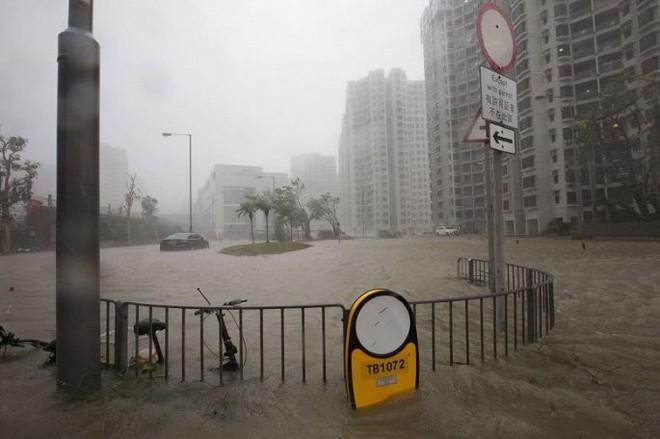 Video: Tòa nhà ở Hong Kong đung đưa, kính vỡ tung tóe trong bão MANGKHUT - ảnh 2