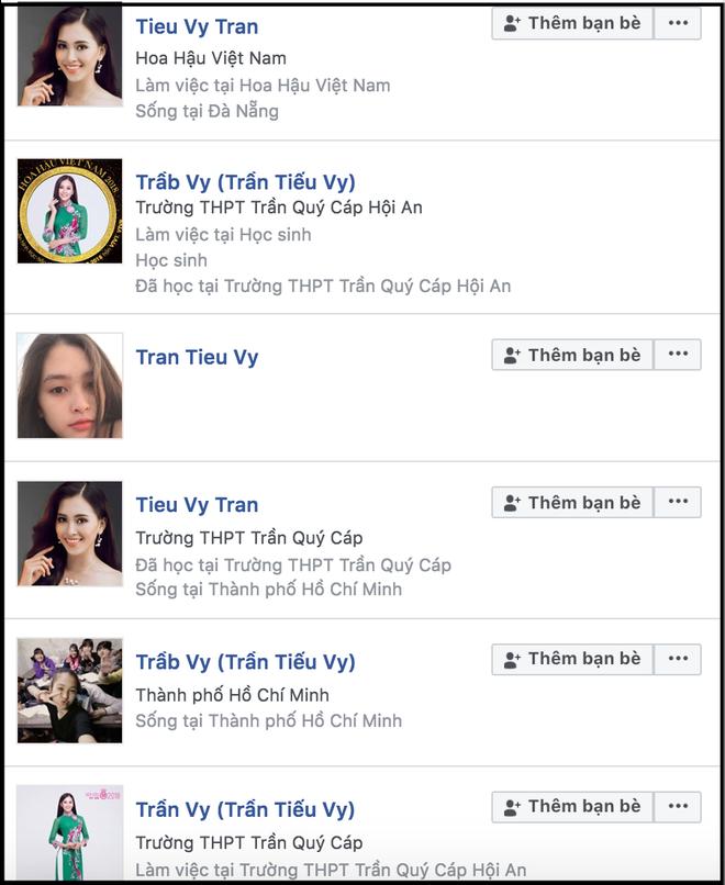Vừa đăng quang ít phút, hàng loạt Facebook giả mạo Hoa hậu Trần Tiểu Vy đã xuất hiện tràn lan - ảnh 1