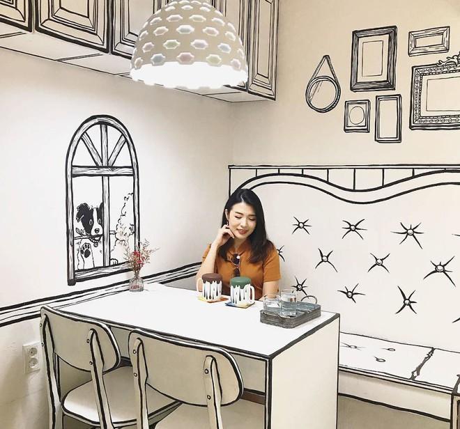 Quán cà phê mang phong cách truyện tranh siêu ảo đang hot tại Hàn Quốc - Ảnh 8.