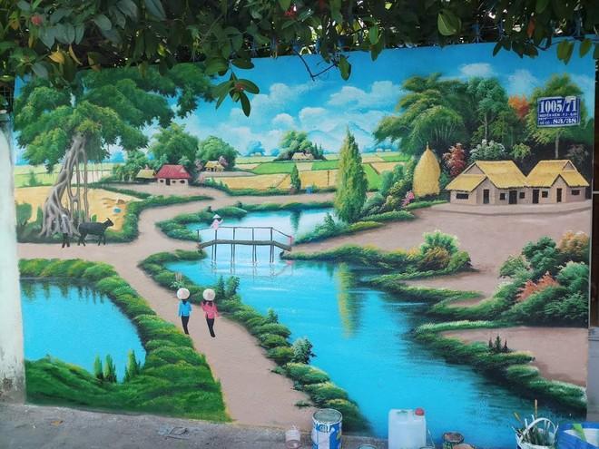 """""""Tuyệt đẹp, cá nhân mình thì thích những bức tranh như thế này hơn là những  bức graffiti mang hơi hướng nước ngoài. Bức tranh thực sự là một tác phẩm  nghệ ..."""