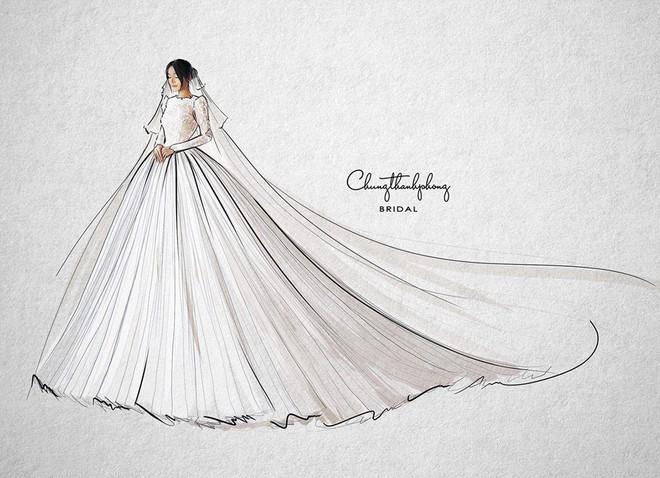 Váy cưới Nhã Phương nhìn hao hao váy cưới Hoa hậu Đặng Thu Thảo - Ảnh 6.