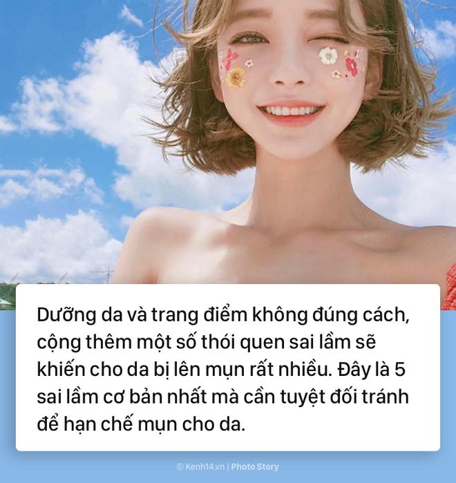 Tránh ngay những sai lầm sau nếu bạn không muốn da mặt mình chi chít mụn - Ảnh 1.